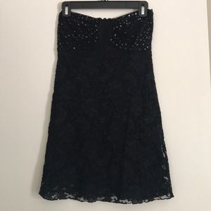 Sequined and Lace Mini Dress